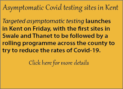 Notice of asymptomatic covid testing beginning in Kent