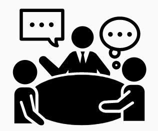 clip art image of a meeting