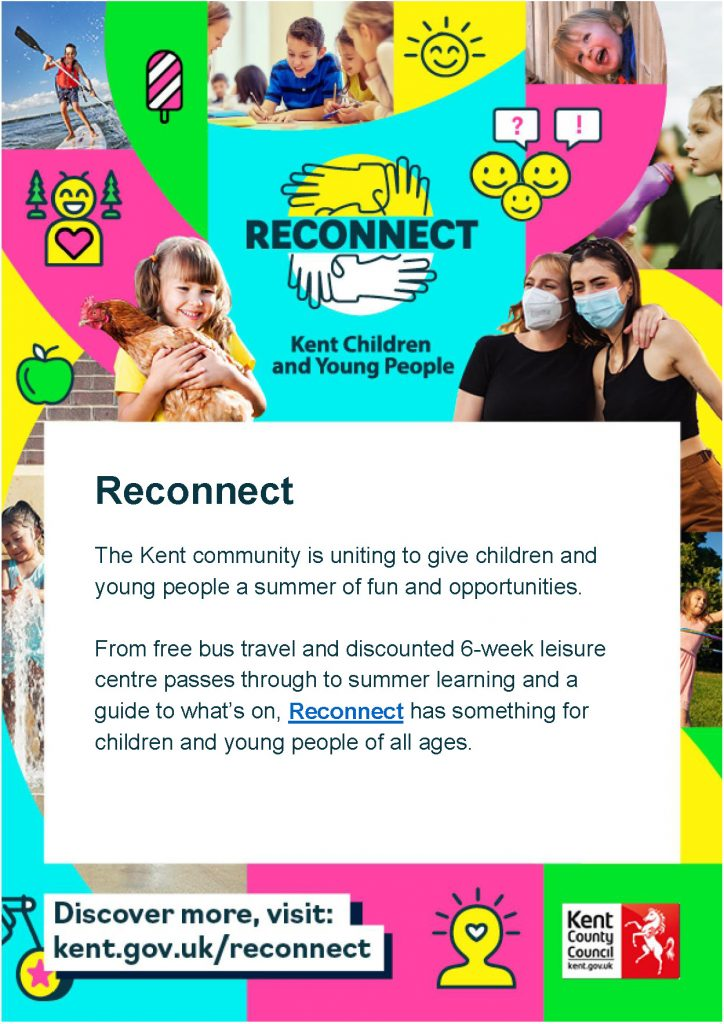 Image annuoncing the Kent County Council Reconnect scheme